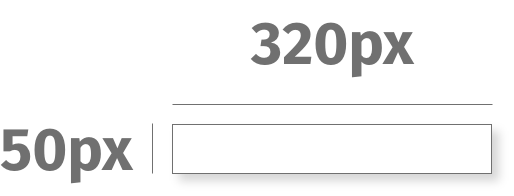 Visual depiction of Digital Ad size 320px by 50px